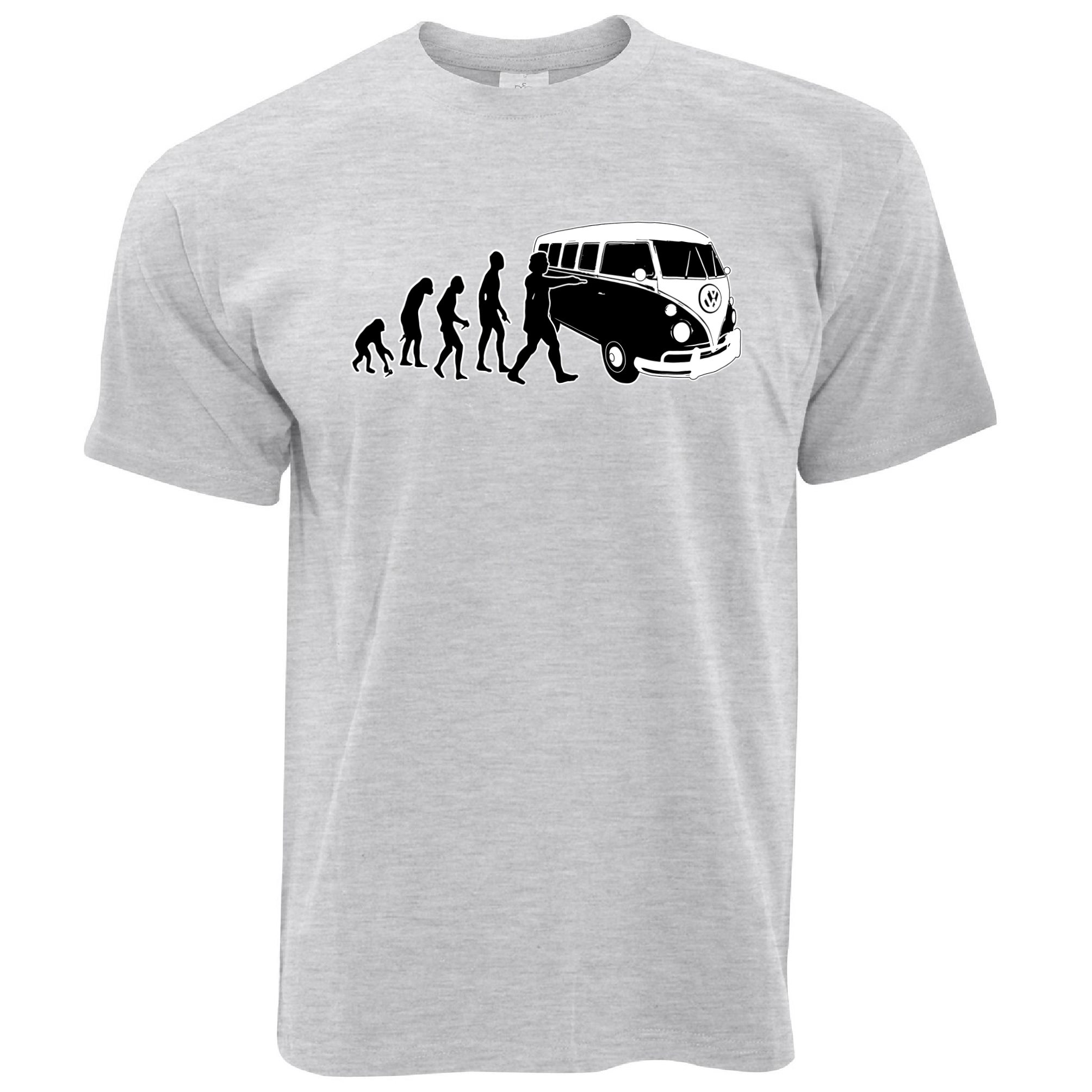 Evolution Of Camper Van Camping Vw T2 T1 Minivan Mens T