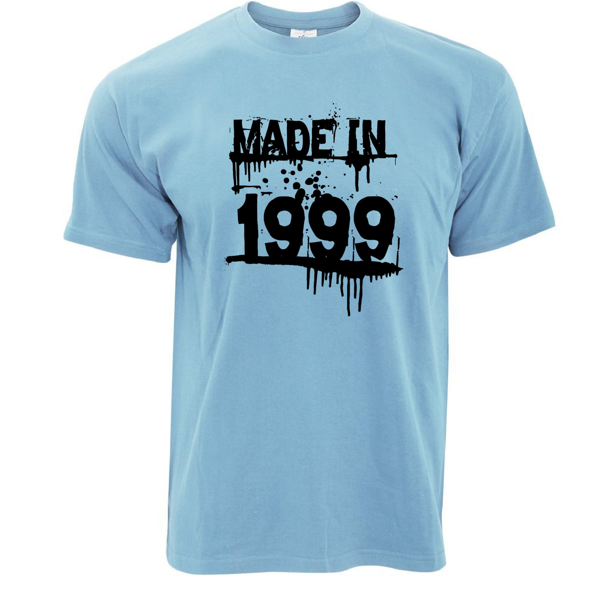 Made in 1999 dripping paint graffiti stencil year design for Made in t shirts
