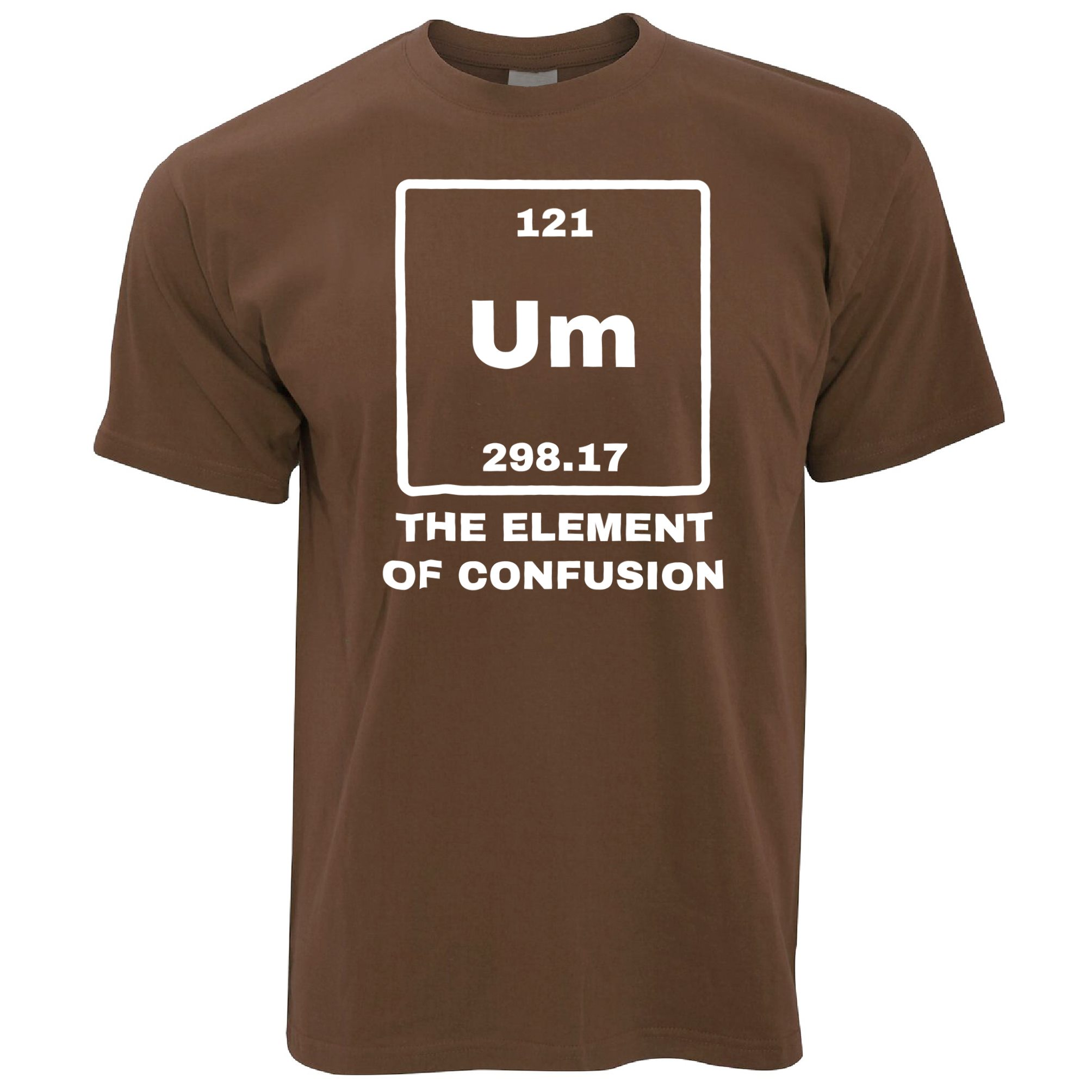 Um the element of confusion periodic table funny science mens tshirt um the element of confusion periodic table funny urtaz Images