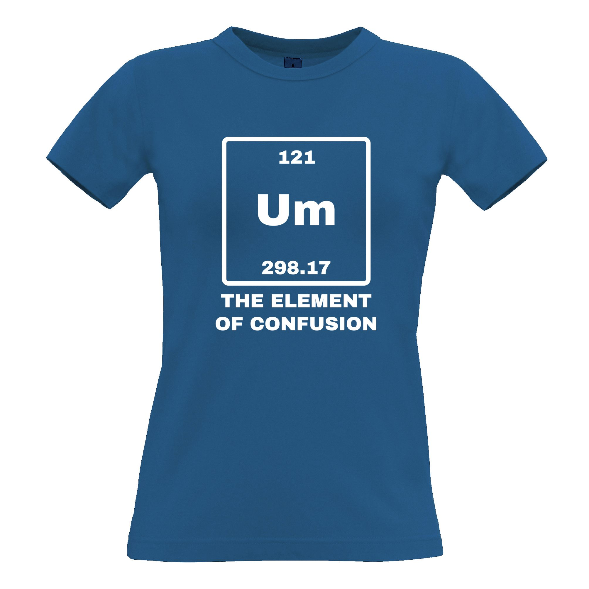 Science womens t shirt um the element of confusion periodic table science womens t shirt um the element of urtaz Image collections