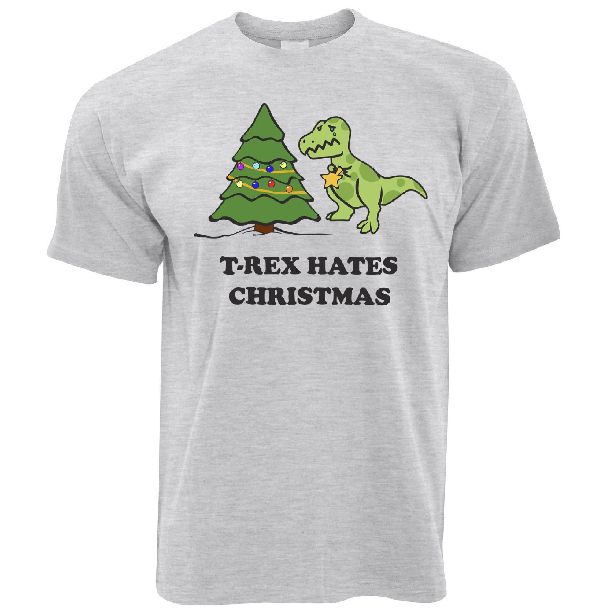 T-Rex Hates Christmas Tree Sad Gift Decoration Present Gift Mens T ...