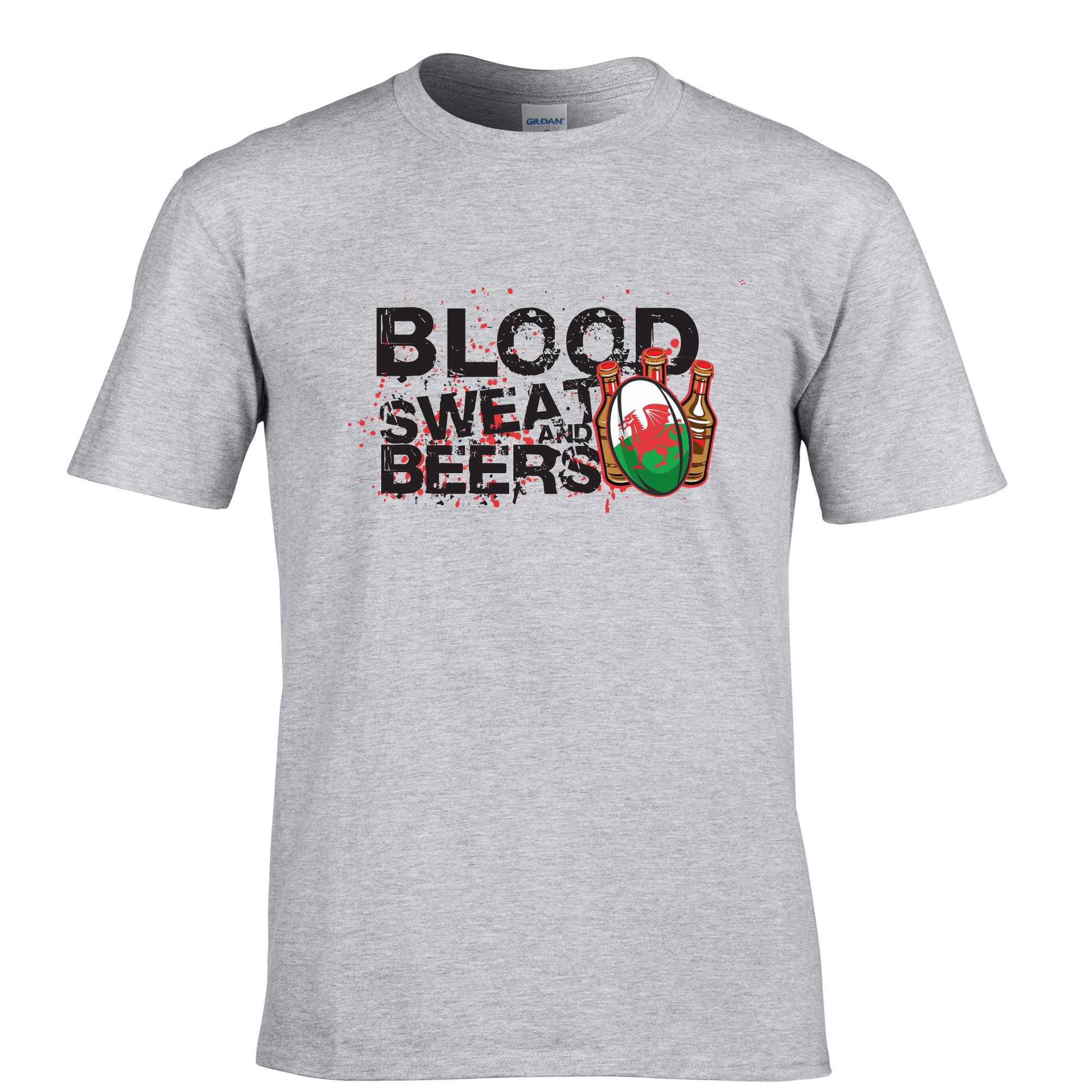 Blood sweat and beers wales rugby six nations funny sports for Sweat free t shirts