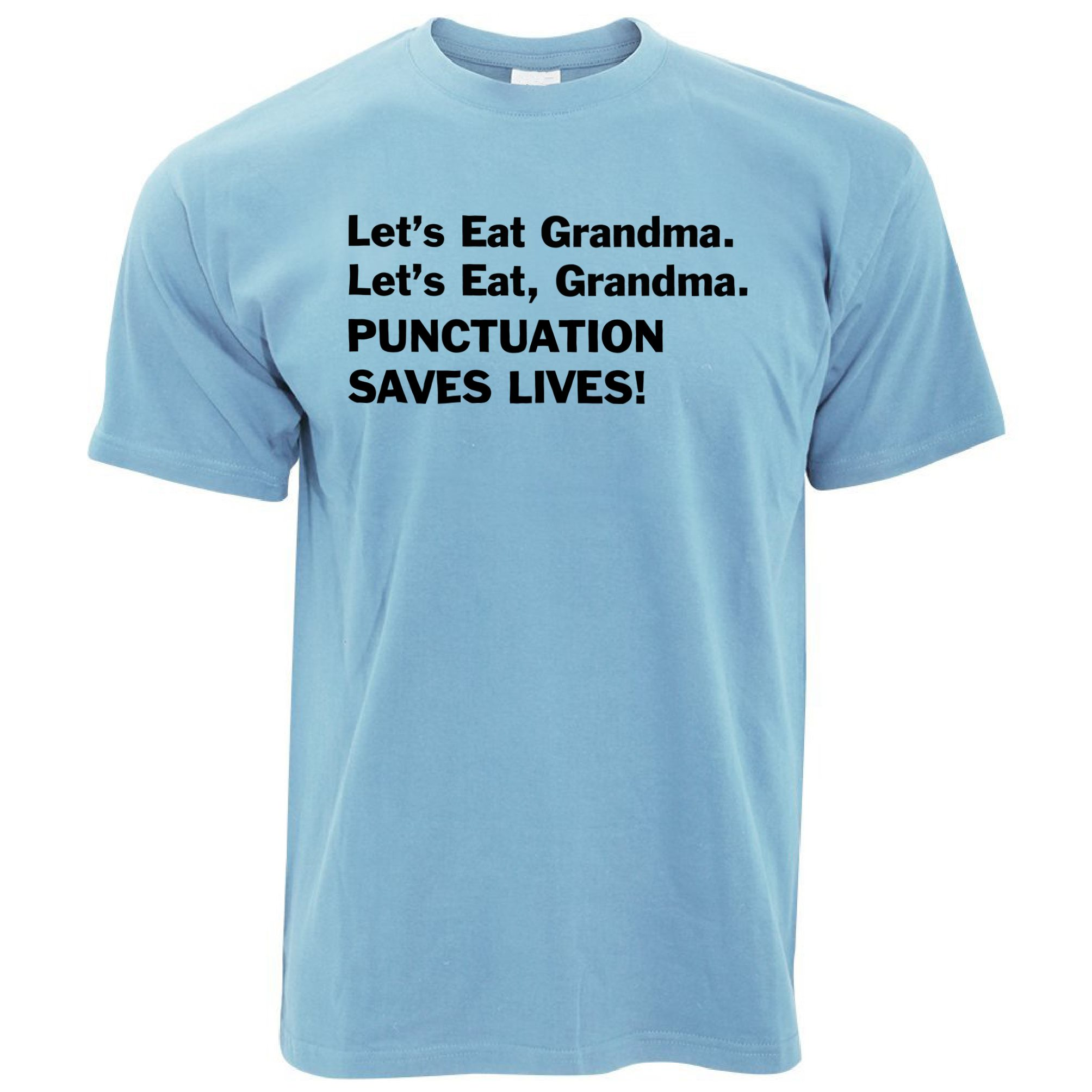 Let's Eat Grandma Grammar Police Commas Save Lives Mens T ...