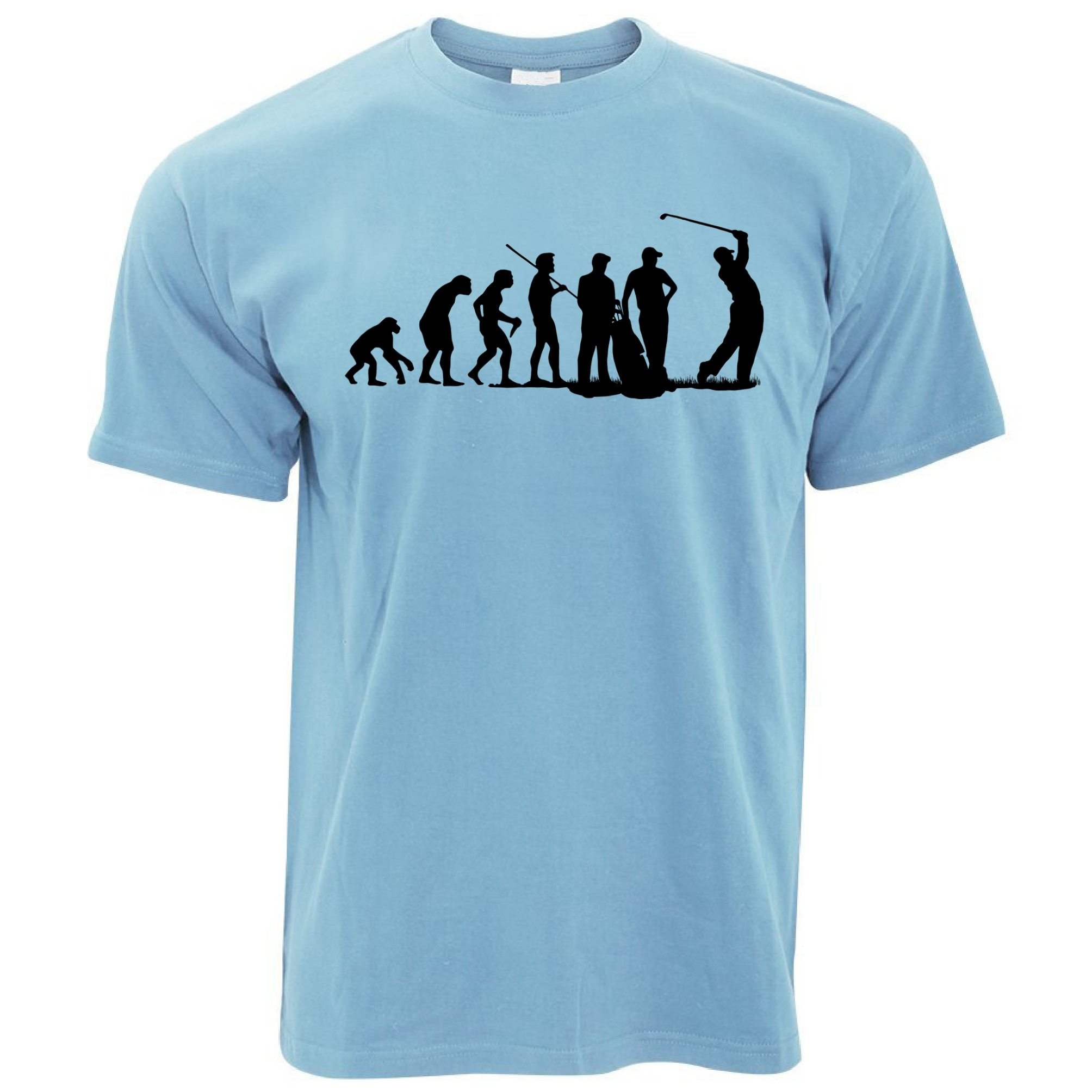Evolution of golf club course iron wood mens t shirt ebay for Golf t shirts for sale