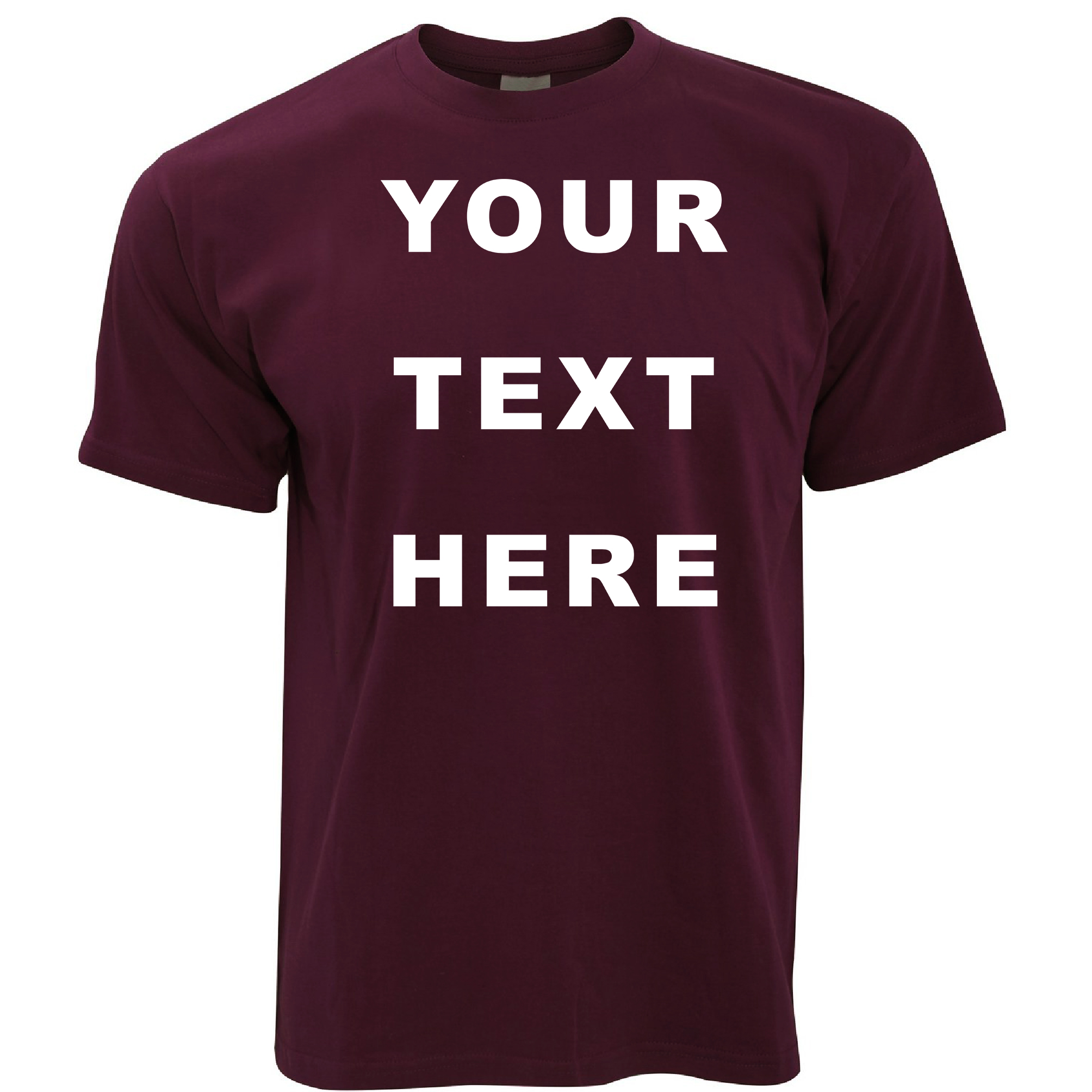 Your text here custom personalised printed mens t shirt ebay for Print photo on shirt